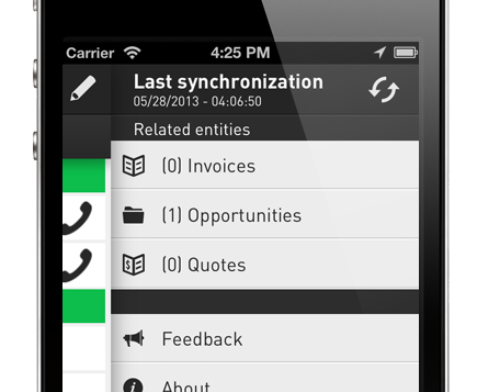CRMGamified Dynamics CRM Mobile client