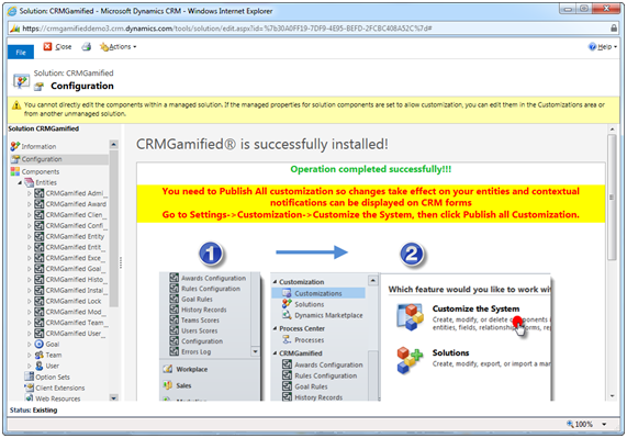 3 - In order to see the new real time notifications bar in your CRM forms, you must Publish All changes.